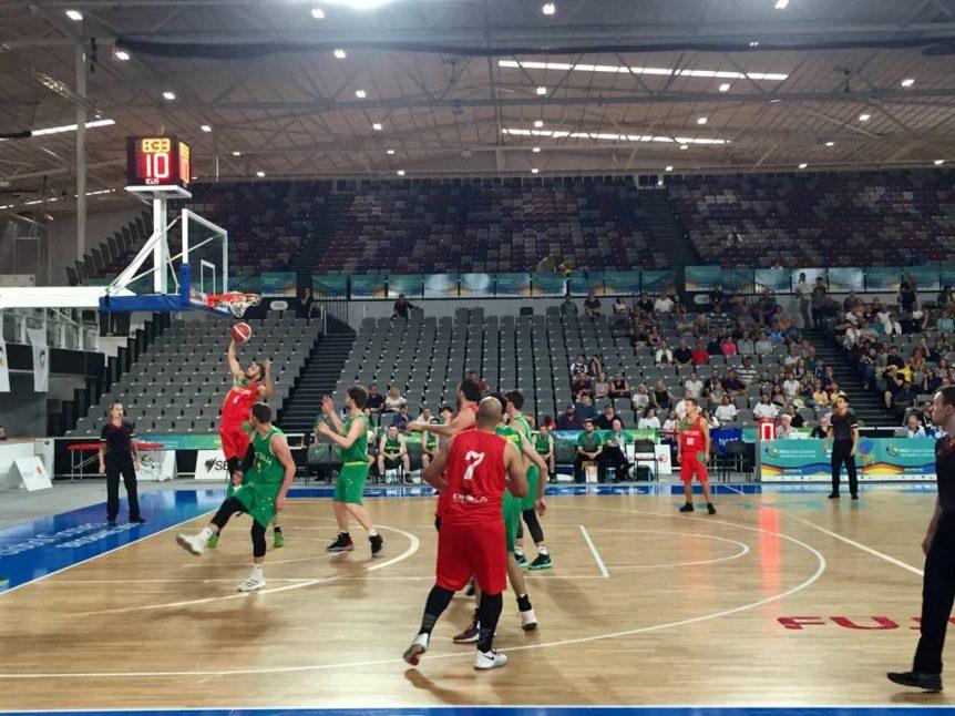 Equipa Portuguesa de Basquetebol na final com a Austrália