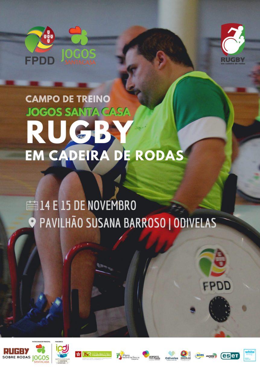 Cartaz Campo de Treino de Rugby em Cadeira de Rodas